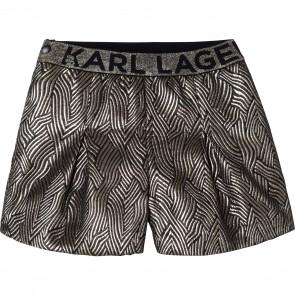 Karl shorts goud plooi