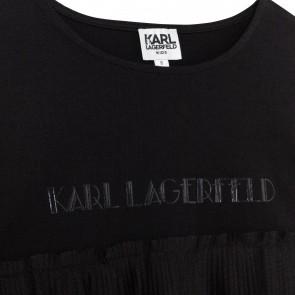 Karl tshirtLM zwart plisee